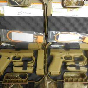 2 Glock 19X Coyote Finish  Both Brand New ( Pair Sequential Numbered)