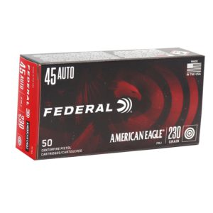 Federal American Eagle 45 ACP 230 Grain FMJ Ammunition