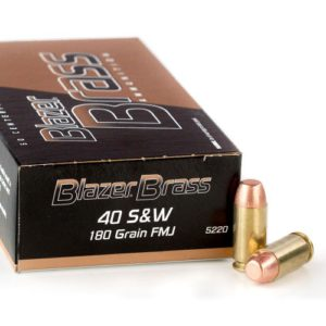 CCI Blazer 40 S&W 165 Grain FMJ Ammunition