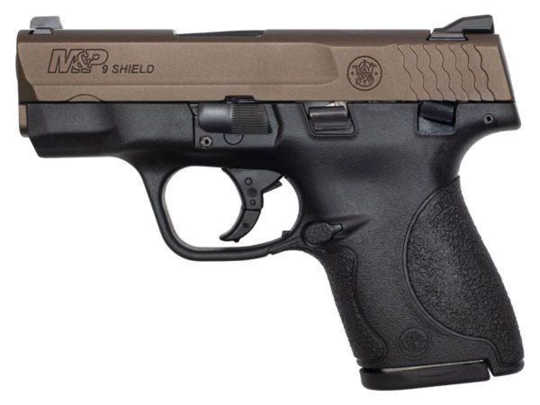 s w m p shield 9mm pistol  midnight bronze 1